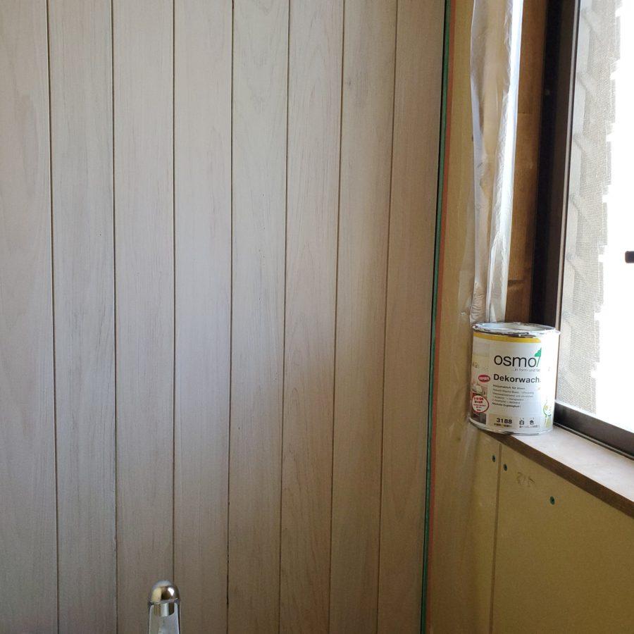 トイレ羽目板 オスモカラー オパーク 白色 (3188)1度塗り